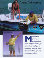 Gaff Magazine article about Capt Jeff Hagaman