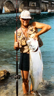 Jeff Tarpon Fishing as boy
